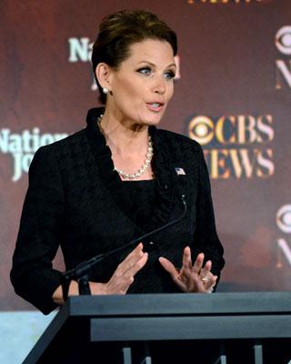 La candidata a la presidencia republicana, Michele Bachmann, durante el debate en la CBS.