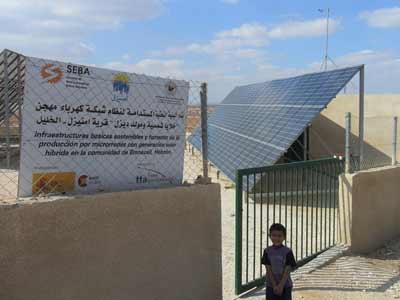 La planta de Mnaizel, cerca de Hebrón, fue construida en 2009 por la ONG catalana Seba, con financiación de la AECID - R. G.
