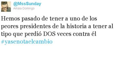 Uno de los cientos de 'tuits' criticando al nuevo presidente.