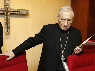 El arzobispo Rouco Varela, en la presentación de la Asamblea de la Conferencia Espiscopal Española ayer.-