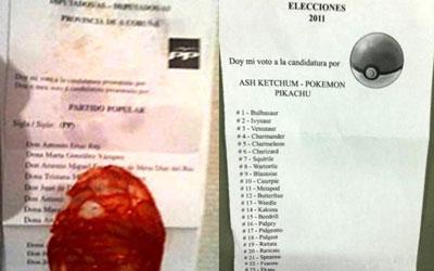 """""""Un CHORIZO y los 'POKÉMON' también tienen cabida en las urnas"""" 1321960428978papeletaswebdn"""