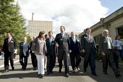 El presidente electo, Mariano Rajoy, en la central nuclear de Garoña en 2009. -