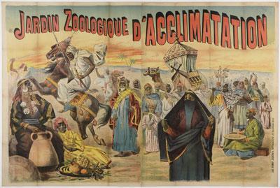 Cartel de la 'Caravane égyptienne', para París, de 1891.