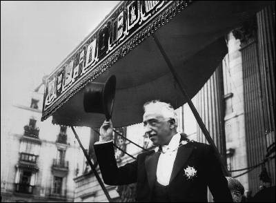 Niceto Alcalá-Zamora, recién proclamado presidente de la Segunda República.