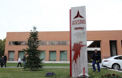 Ataque al memorial de las Brigadas internacionales