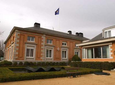Vista parcial del Palacio de la Zarzuela, residencia oficial del rey Juan Carlos y su familia.