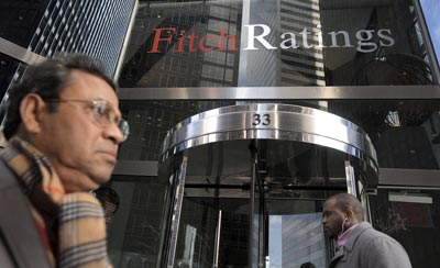 La sede de la agencia de calificación Fitch en Nueva York, EE.UU.