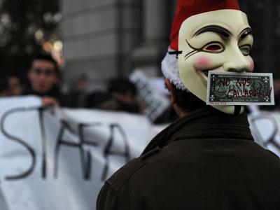 Manifestacion del colectivo Democracia Real Ya por un cambio en la ley electoral.