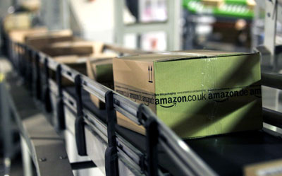 Cadena de producción de pedidos en Amazon.