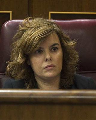La vicepresidenta del Gobierno, Soraya Sáenz de Santamaría - REUTERS/JUAN MEDINA