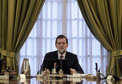 Rajoy, en el Consejo de Ministros del pasado viernes. MARTA JARA
