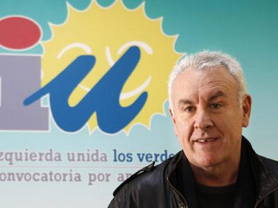 Cayo Lara, durante una rueda de prensa que ha ofrecido en Sevilla.