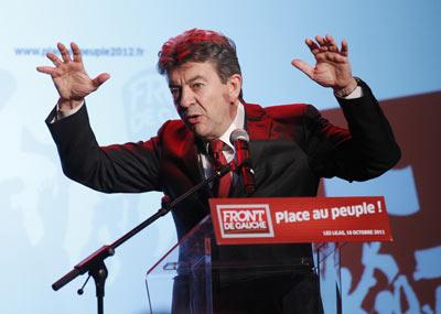 El candidato presidencial del Frente de Izquierdas francés, Jean-Luc Mélenchon. AFP