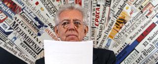 Mario Monti, ayer durante una rueda de prensa.-