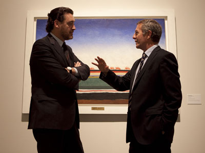 Miguel Zugaza, director del Prado, y José Guirao, director de La Casa Encendida.-