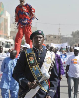 La capital de Senegal acogió la XI edición del Foro Social Mundial. AFP