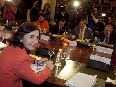 La ministra de Medio Ambiente, Rosa Aguilar, antes de la reunión de ayer.Gabriel pecot