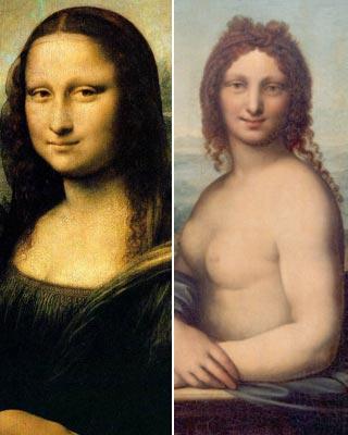 El cuadro de la Gioconda y uno de Gian Giacomo Caprotti.