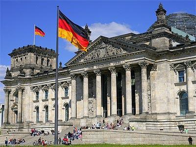 El parlamento alemán en Berlín.