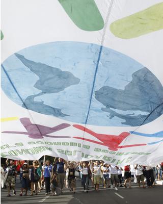 El Foro reunió a 150.000 personas el año pasado en Porto Alegre.