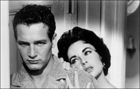 Paul Newman y Elizabeth Taylor, dos iconos sexuales de Hollywood, juntos en 'La gata sobre el tejado de zinc'.