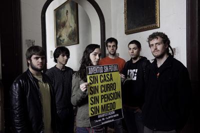 Los jóvenes universitarios quieren que la campaña Juventud Sin Futuro encauce su indignación. gabriel pecot