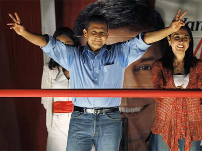 Humala celebra la victoria. REUTERS
