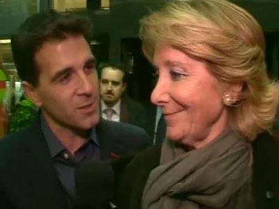 El reportero Gonzo con Esperanza Aguirre.-