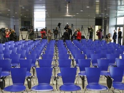 Sala de Prensa sin Periodistas, fotografía de la Agencia EFE