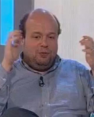 Salvador Sostres, en una tertulia de televisión.