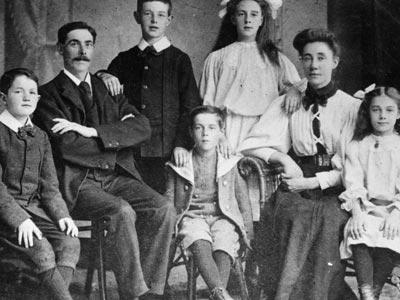 Los Goldwin antes de que naciera Sidney.