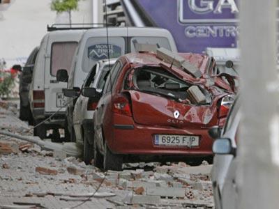 Imagen de los daños materiales que causó el terremoto de Lorca.