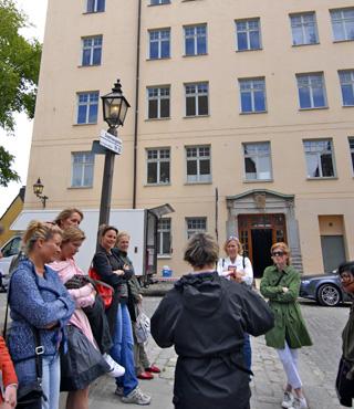 En Fiskargatan, 9 se ubica la casa de 21 habitaciones que Lisbeth Salander compró gracias a sus habilidades al teclado / © Kristina Gellerstedt, Stockholms kulturförvaltning.