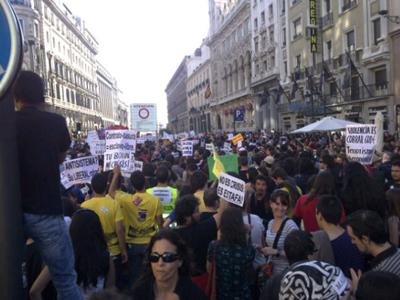 Una foto de la manifestación subida por un tuitero.