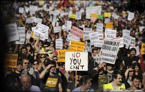 Otro momento de la manifestación de Madrid.