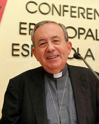 Antonio Algora, obispo de Ciudad Real y responsable del sostenimiento económico de la Iglesia.