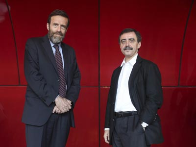 Guillermo de la Dehesa, presidente del Patronato, y Manuel Borja-Villel, director del Museo. GUILLERMO SANZ