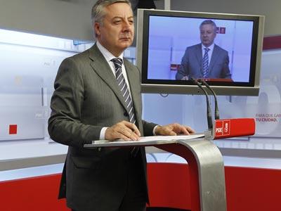 José Blanco, ayer en Ferraz. I. MESA
