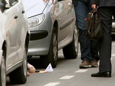 Imagen de un crimen cometido en Girona. Joan Castro