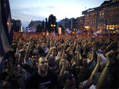 Manifestaciones en Grecia. AFP