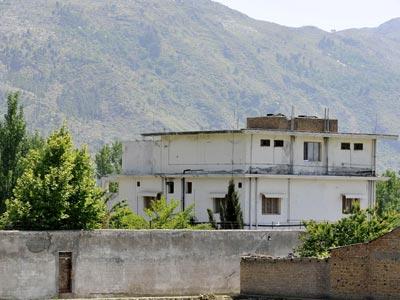 Fotografía de la casa donde se escondía Bin Laden.