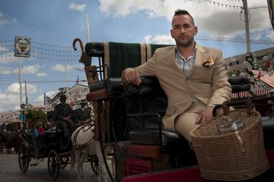 El denunciante, José Carlos Iglesias, ayer en la Feria. -