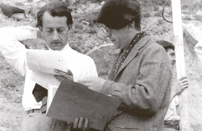 André Malraux (izq) y Max Aub, en 1938, durante el rodaje de Sierra de Teruel'. ivac ricardo muñoz suay
