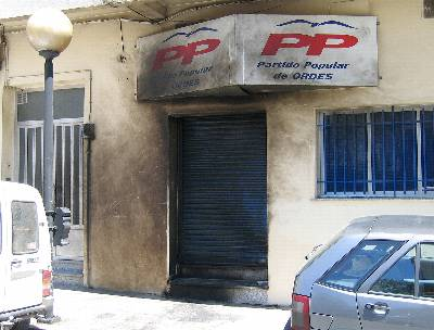 [Galicia] Explota un artefacto en la sede del Partido Popular de Ordes  130794852360720110613-3895029dn