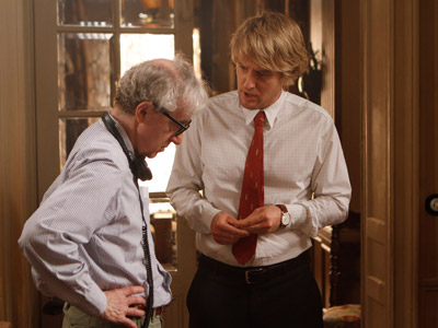 Woody Allen y Owen Wilson, durante el rodaje de Midnight in Paris'.