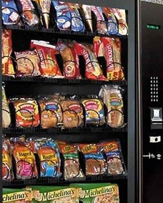 Una máquina de venta de bollos.