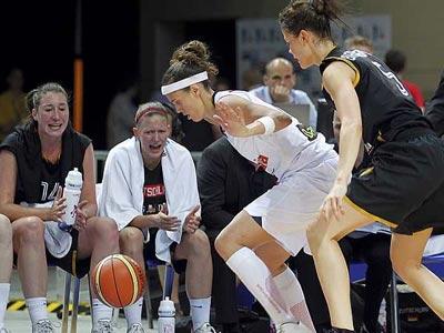 La jugadora Amaya Valdemoro, el pasado sábado, en el campeonato de Europa.-