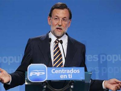 Rajoy, durante la rueda de prensa. EFE