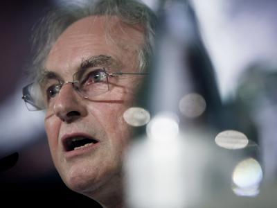 Richard Dawkins, durante la rueda de prensa que dio ayer en Tenerife. dèsirée martín