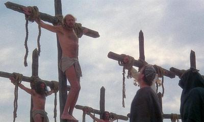 Una de las escenas de la película 'La vida de Brian'.
